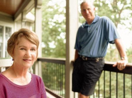Randy & Kathleen Treiber on their balcony porch.